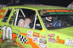 Hobby Stock drivers gave kids a fun trip around the track on Saturday, May 12, 2012, at Boone Speedway.
