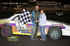 The IMCA Stock Cars welcomed Jay Schmidt to victory lane for the first time on Saturday, May 12, 2012, at Boone Speedway.