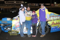 Jimmy Gustin took his first win of the season at Boone Speedway in the IMCA Modifieds on Saturday, May 12, 2012.
