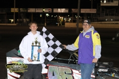 Bryan Zehm dominated the entire Mod Lite feature to take home the checkers on Saturday, May 12, 2012, at Boone Speedway.