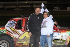 John Watson led the field for the win in the IMCA Hobby Stock division at Boone Speedway on Saturday, May 12, 2012.