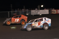 Mod lite action at Boone Speedway on Saturday, May 19, 2012.