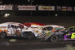 IMCA Modified action at Boone Speedway on Saturday, May 19, 2012.