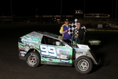 Josh May stands in the Mod Lite victory lane on Saturday, May 19, 2012.