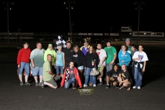 John Watson was back in his familiar winner's spot for the IMCA Hobby Stock's on Saturday, May 19, 2012.