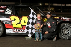 Eric Brown took top spot in the IMCA Stock Cars on Saturday, May 19, 2012.