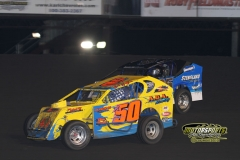 Mod lite action at Boone Speedway on Saturday, May 26, 2012.