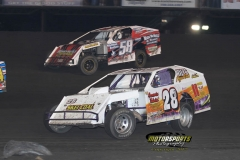 IMCA Modified action at Boone Speedway on Saturday, May 26, 2012.