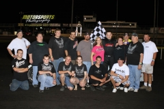 Todd Shute made a repeat trip to victory lane in the IMCA Modified division at Boone Speedway on Saturday, May 26, 2012.