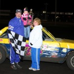 Dean Hartwig took the checkers in the first IMCA Hobby Stock main event at Boone Speedway on Saturday, April 16, 2011.