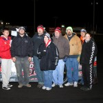 Josh Gilman took the checkers in the IMCA Modified division at Boone Speedway on Saturday, April 16, 2011.