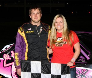 The IMCA stock cars saw Michael Jaennette bring home the checkers at Boone Speedway on Saturday, April 23, 2011.