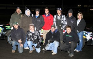 Boone Speedway hosted Michael Murphy in victory lane for the first IMCA Hobby Stock A-Main on Saturday, April 23, 2011.