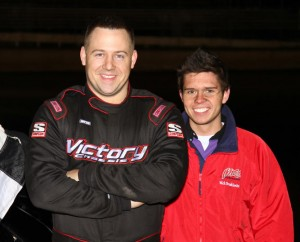 Todd Shute led the IMCA modifieds to take the checkers at Boone Speedway on Saturday, April 23, 2011.