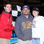 Jimmy Gustin in Victory Lane on Saturday, April 30, 2011.