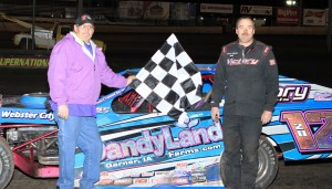 Mark Elliott in Victory Lane