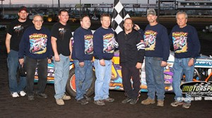 Cale Sponsler took the win by a nose in the IMCA Modifieds at Boone Speedway on Saturday, April 20, 2013.