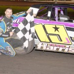 Schmidt takes it to victory lane in the IMCA Stock Cars