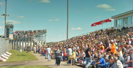 Grandstands at Boone Speedway